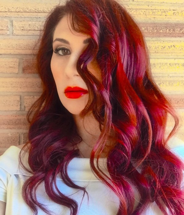 Red-toned burgundy with waves
