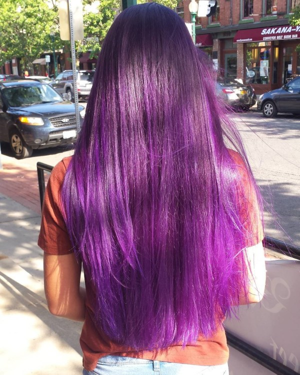 Red-violet balayage creativity