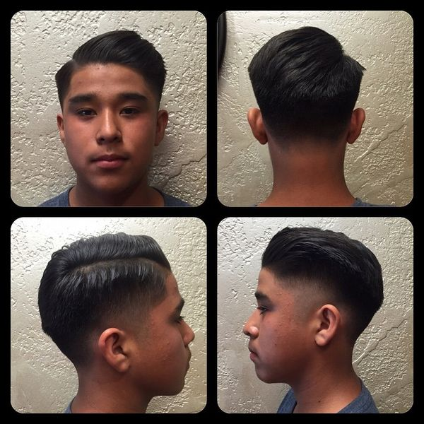Low Fade Comb-Over With Thin Part