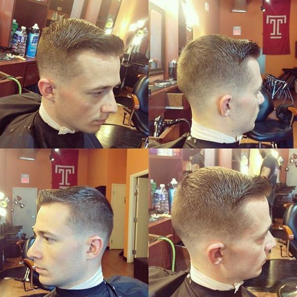 Short Side-Swept Cut