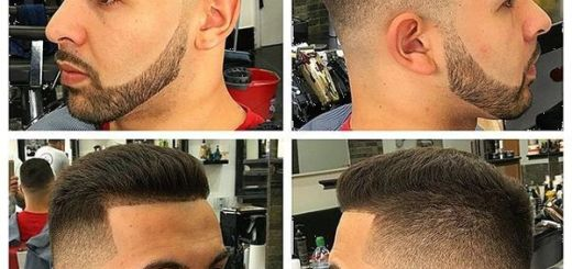 1 Slicked Back Sharp Fade