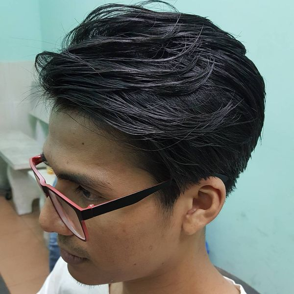 Classical Long Slicked Back Look