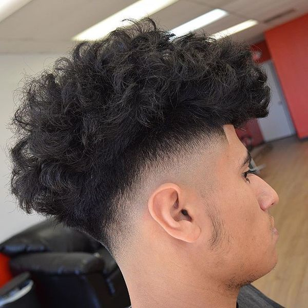 Low Fade Messy Top