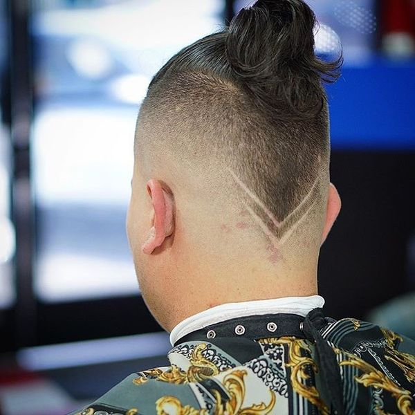 Bald Fade Semi Bun