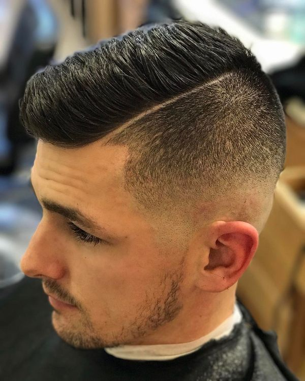 The trendy fade high and tight haircut