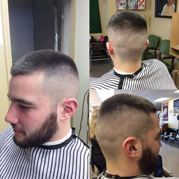 The awesome designs of high and tight hair arts 32 classical high and tight with a beard urmus Images