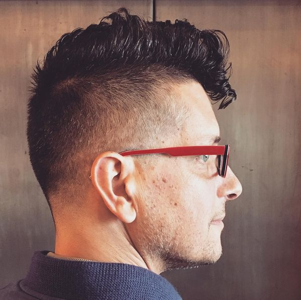 50 Pompadour motivated haircut