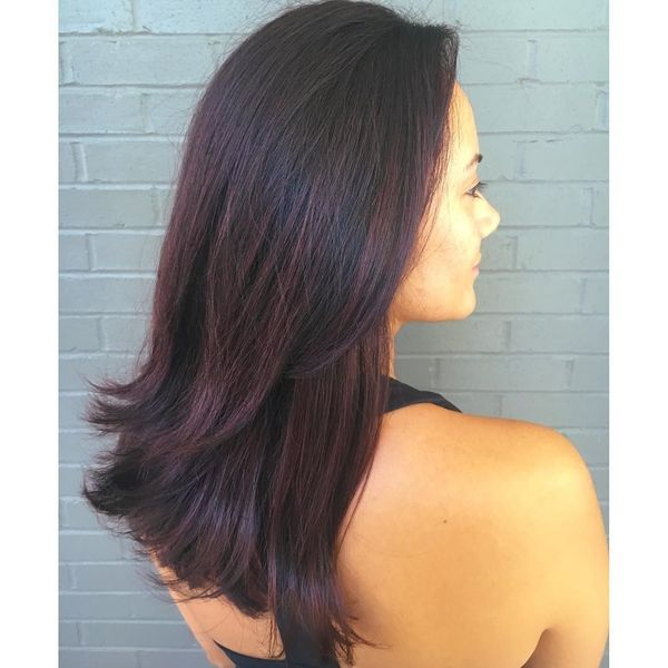 Purple hair with saturated shade