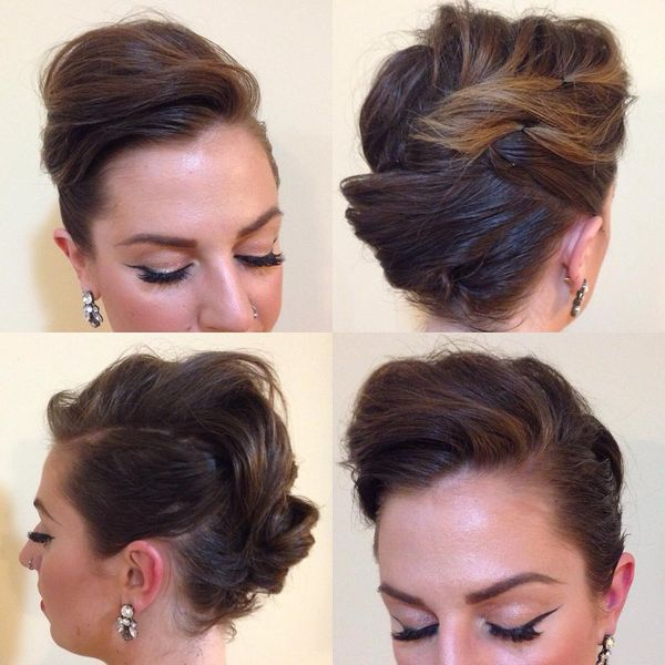 Bouffant Coming into a Full Braid0