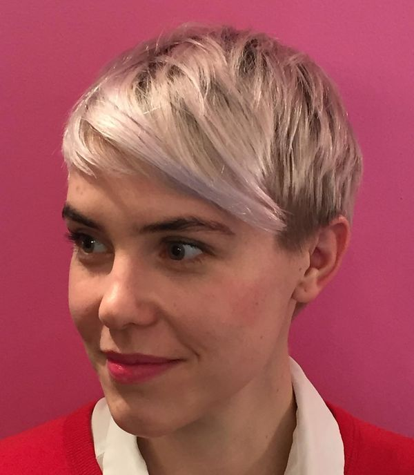 Dyed Pixie with a Short Rounded Fringe