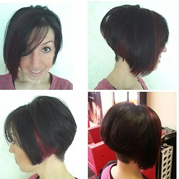 Fiery Shades of ALine Hairdo with a Shaved Neck1