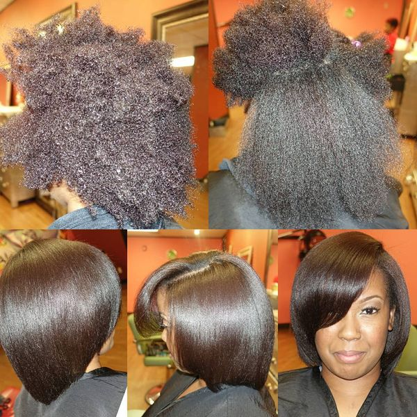 Gorgeous Volume Long Afro Bob0