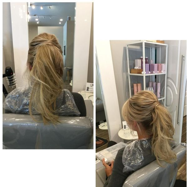 Half-Ponytail with Bang for Long Blonde Hair