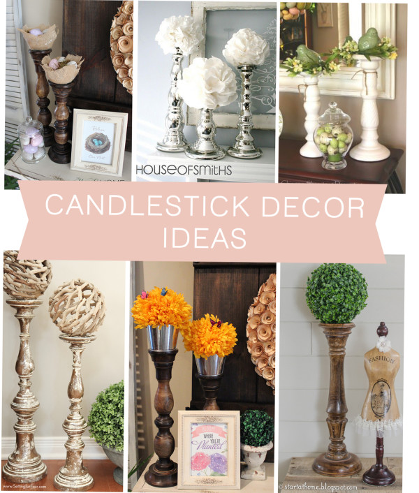 Candlestick decor ideas the hamby home for Collage mural ideas