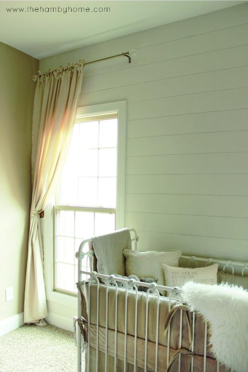 DIY Bow Tied Dropcloth Curtains5