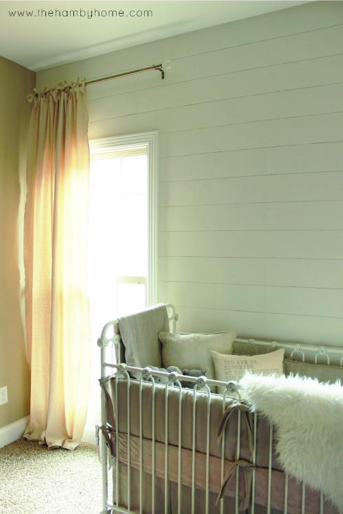 DIY Bow Tied Dropcloth Curtains6