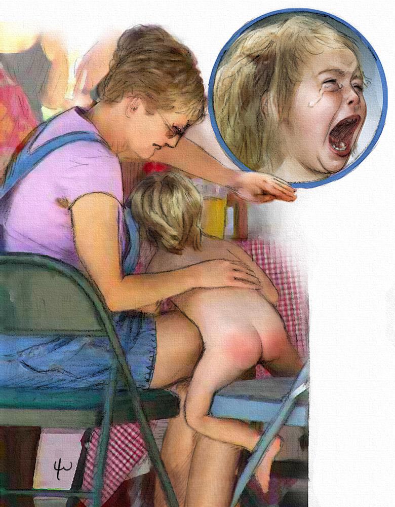 lee warner spanking drawings
