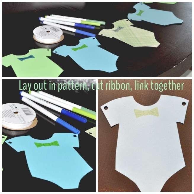Babies, Bow ties, and Bubbly  Onesie Bunting Banner