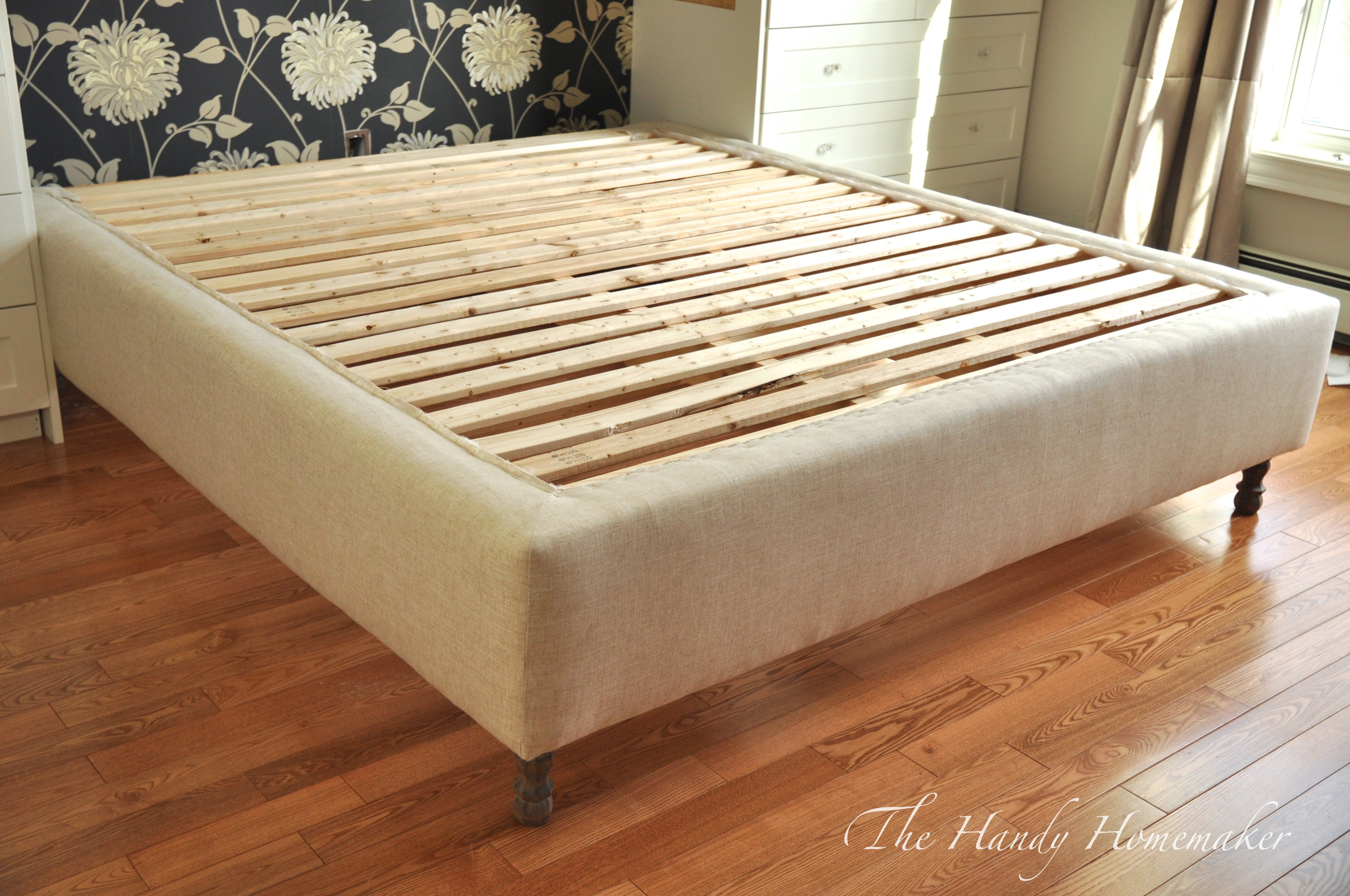 Diy Platform Bed Base Upholstered Bed Frame Diy Part 1