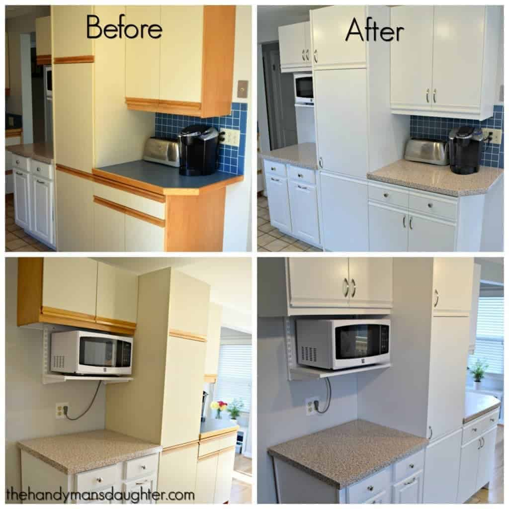 How To Update Laminate Kitchen Cabinets 80s Kitchen Update Reveal The Handyman 39s Daughter