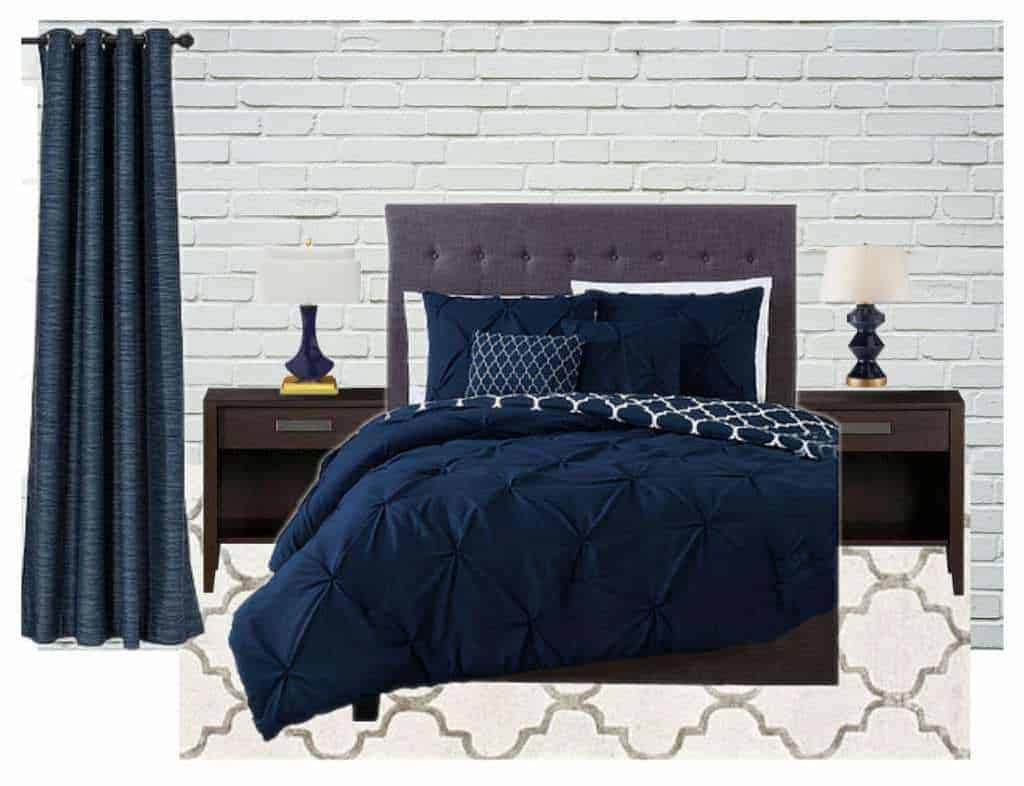 Bedroom Inspiration Grey Bed Master Bedroom Inspiration Navy Blue And Gray The