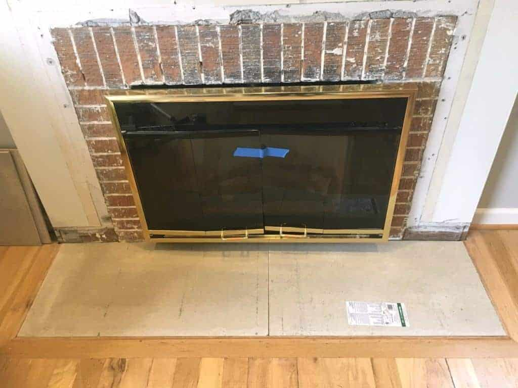 Build Your Own Fireplace Insert How To Build A Fireplace Hearth The Handyman S Daughter