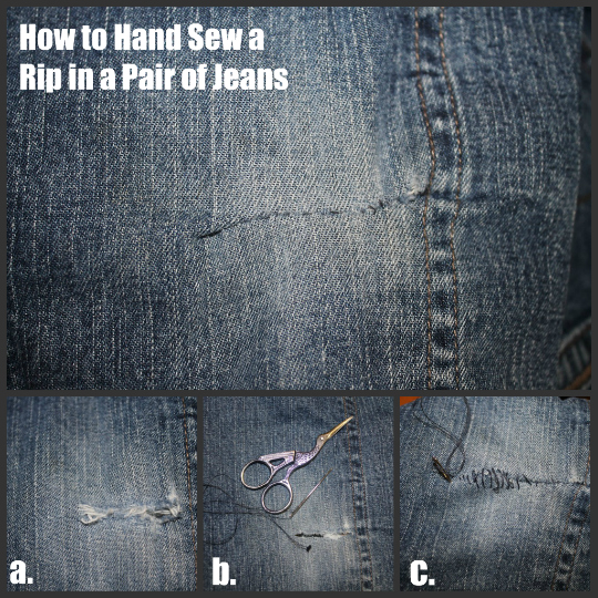 3 Ways to Mend Holes in Blue Jeans - The Happy Housewife™  Home