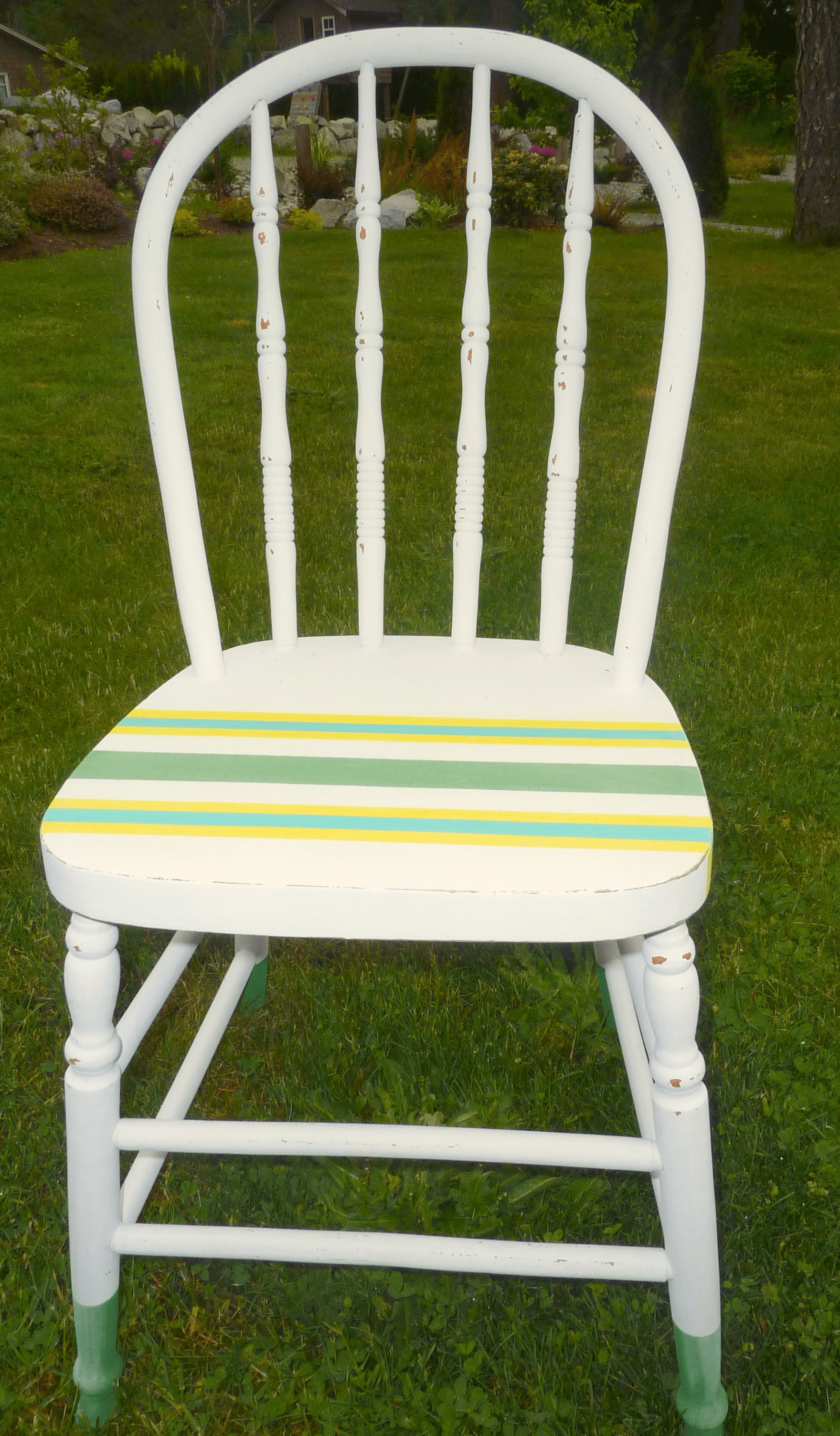 A Dipped 39n39 Striped Diy Chalk And Craft Paint Painted