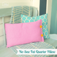A Quick'n'Easy No-Sew Fat-Quarter Pillow and Our Pink ...