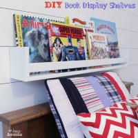 DIY Book Display Wall Shelves {PB Kids Knock Off}