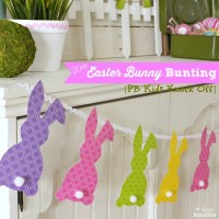 Easy Easter Bunny Bunting {& 13 Egg-cellent Easter Projects}