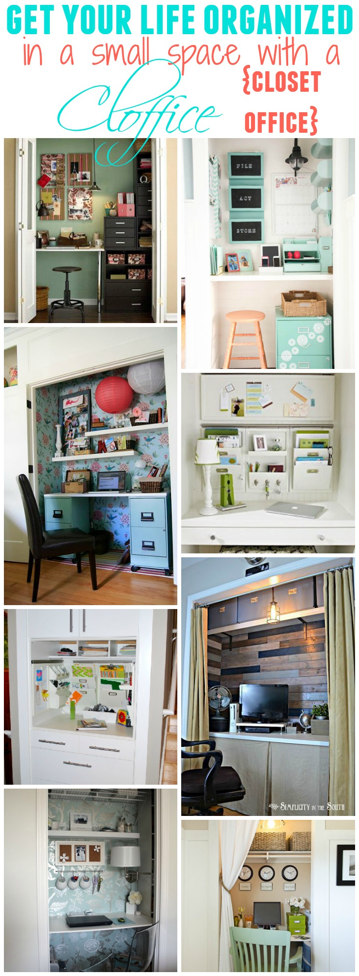 Get Organized In A Small Space With A Cloffice Office Closet The Happy Housie