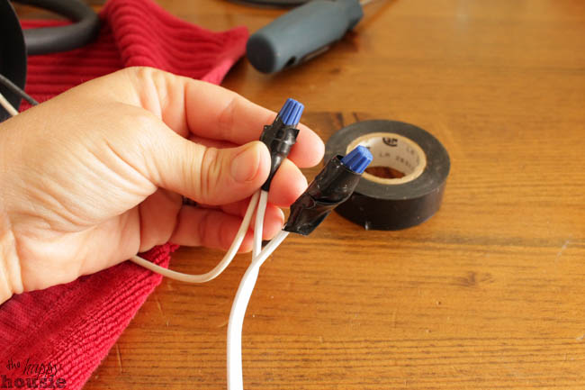 How to Turn a {hard wired} Light Fixture into a Plug In The Happy