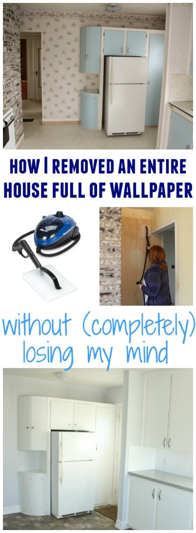 How to Remove Wallpaper Without {Completely} Losing Your Mind - The Happy Housie