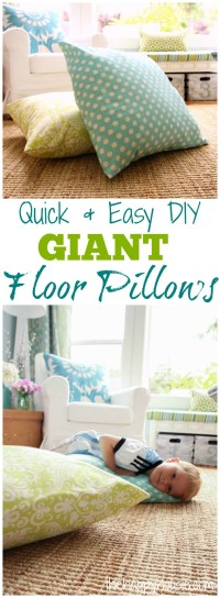 DIY Giant Floor Pillows - The Happy Housie