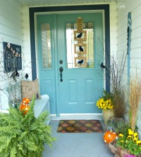 DIY Halloween Door Hanging and Our Crow