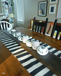 Easy DIY Striped Drop Cloth Table Runner (Guest Post) and ...