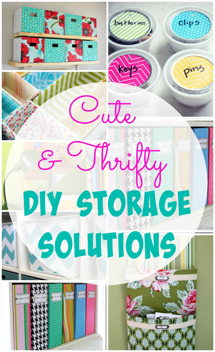 Storage Solutions 26 Cute And Thrifty Diy Storage Solutions The Happy Housie