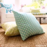 DIY Giant Floor Pillows | The Happy Housie