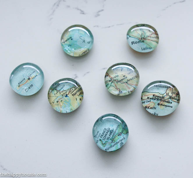 Quick & Easy Diy Map Magnets - The Happy Housie