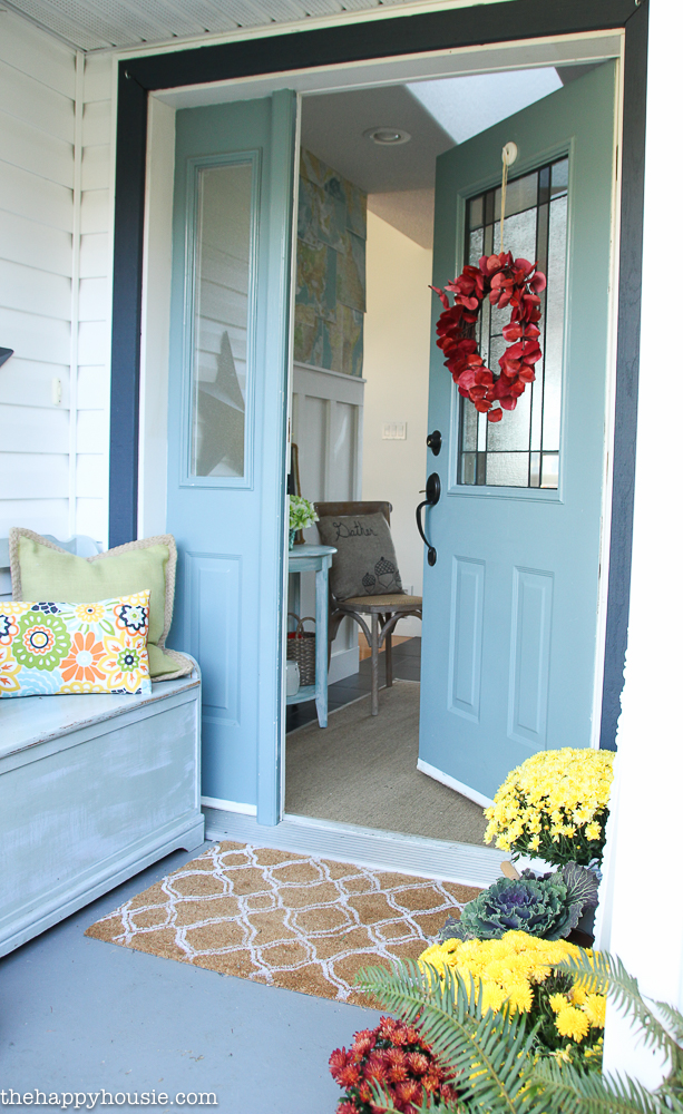 How To Decorate Your Front Porch Key Ingredients For A Simple Fall Front Porch - The Happy