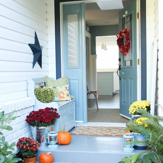 How To Decorate Your Front Porch Key Ingredients For A Simple Fall Front Porch | The Happy
