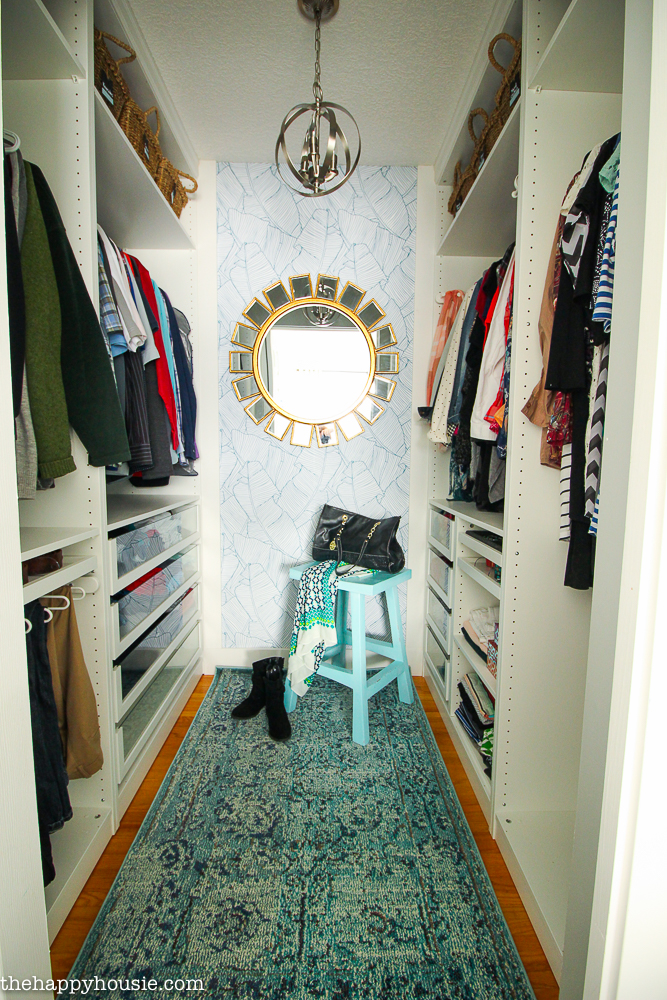 Small Walk-In Closet Makeover Reveal {With Ikea Pax & Removable