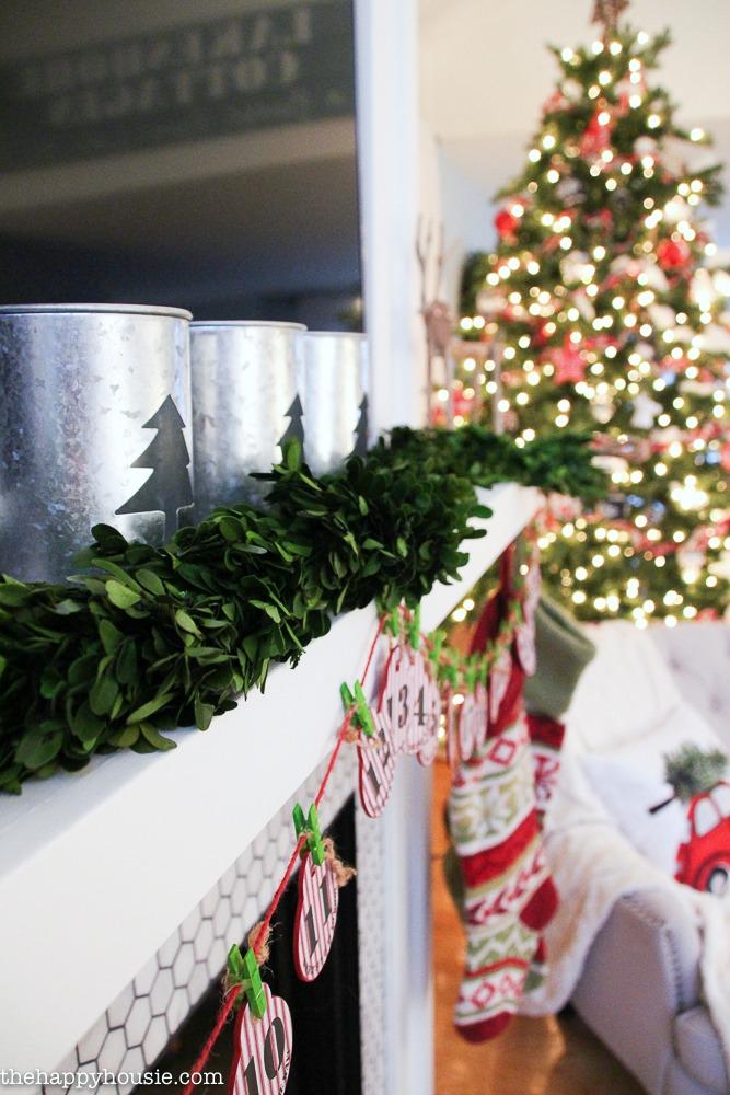 Classic Christmas Mantel Decor with Wayfair The Happy Housie - christmas mantel decor