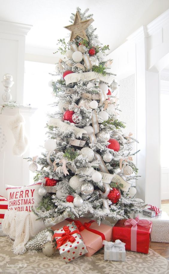 Classic Red \ White Christmas Style Series The Happy Housie - simple christmas tree decorating ideas