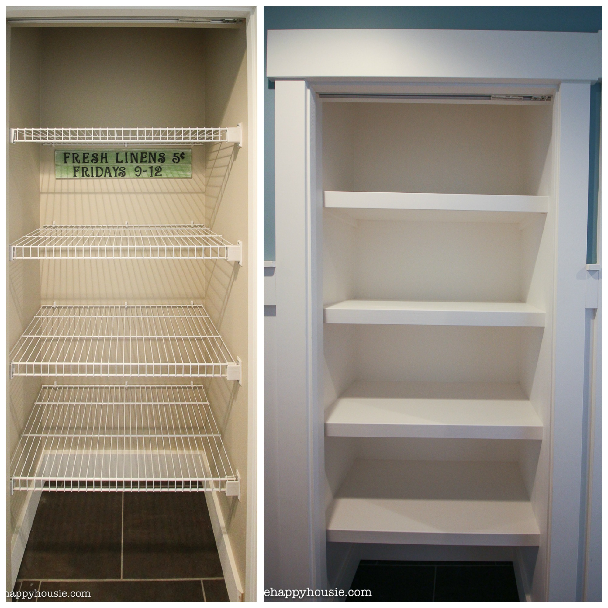 Closet Shelves How To Replace Wire Shelves With Diy Custom Wood Shelves