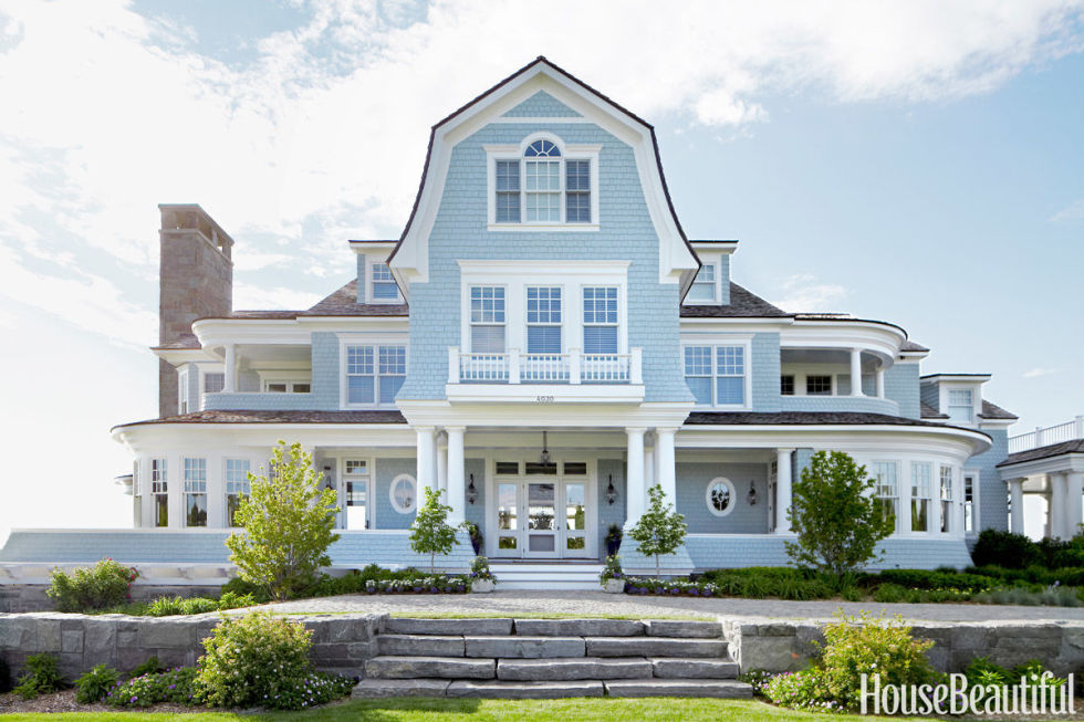 Beach House Outdoor Lighting Beautiful Coastal & Blue Exteriors - The Happy Housie