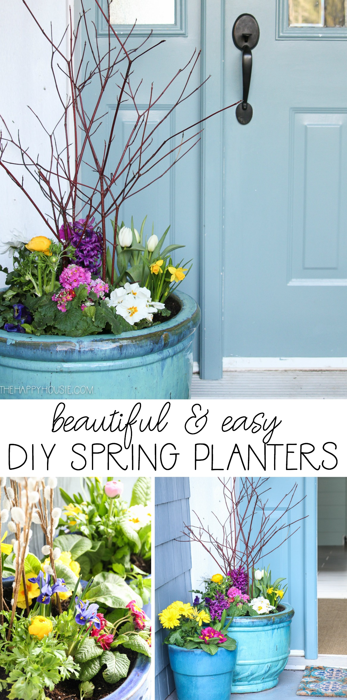 Simple Planters Beautiful Diy Spring Planters Styling Our Spring Porch The