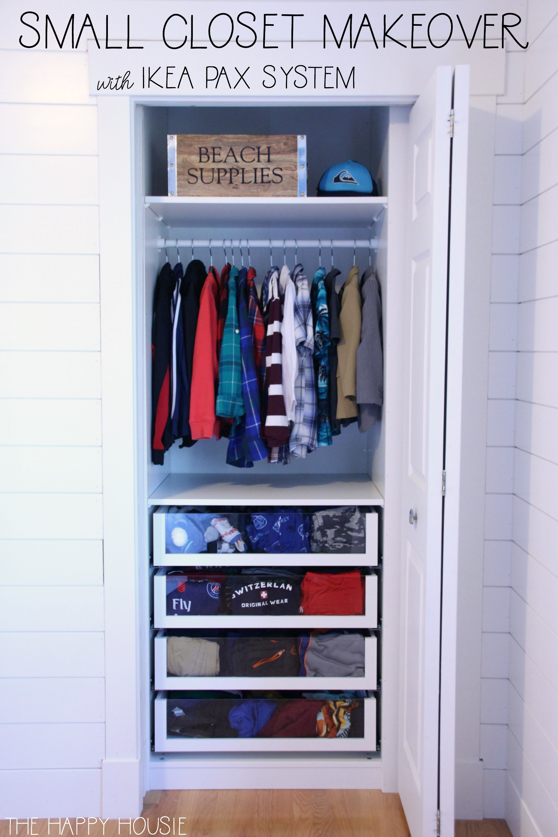 Ikea System Small Reach In Closet Makeover With Ikea Pax The Happy Housie
