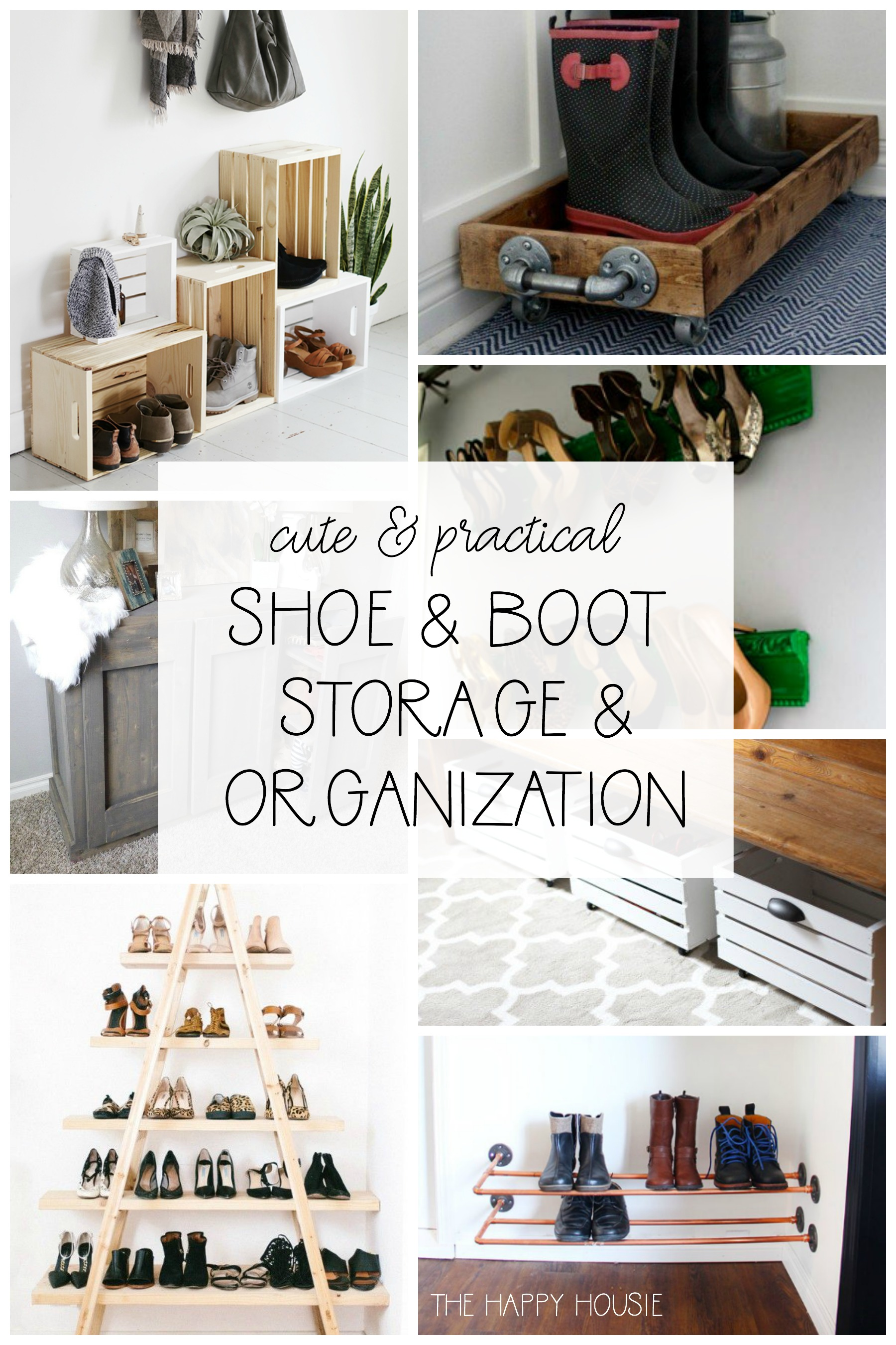 Cute Practical Diy Shoe Storage And Organization The Happy Housie